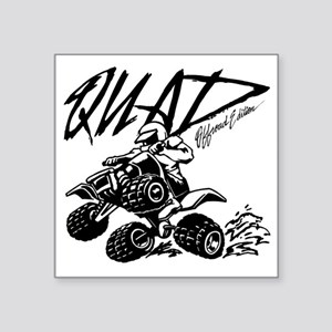 "QUAD 4x4 Off Road Edition Square Sticker 3"" x 3"""